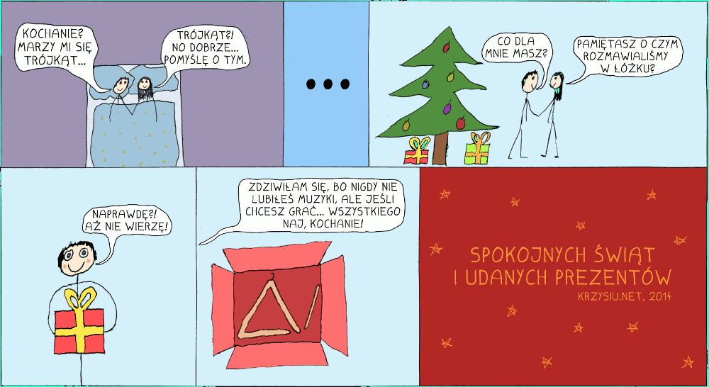 Trójkąt na święta