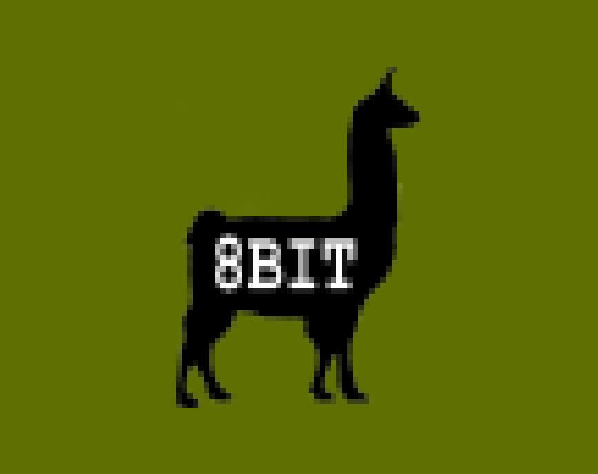 Llama impression #6: 8-bit