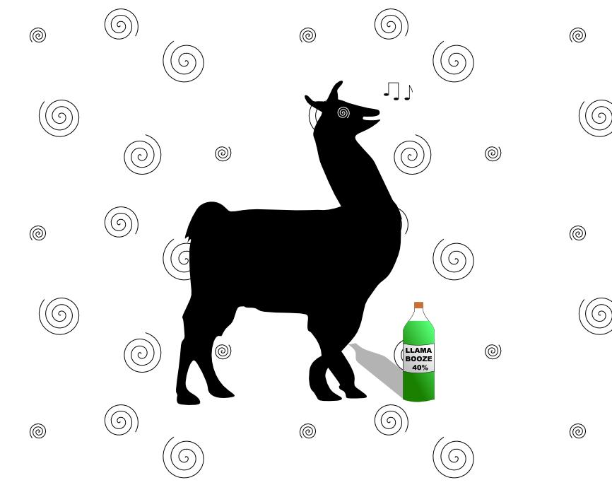 Llama impression #7: Drunk