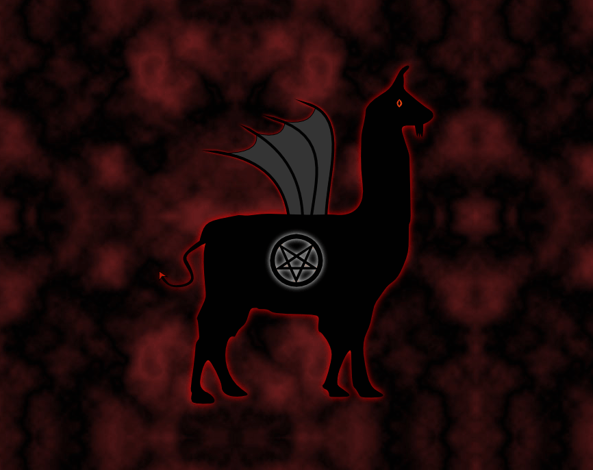 Llama impression #8: Evil