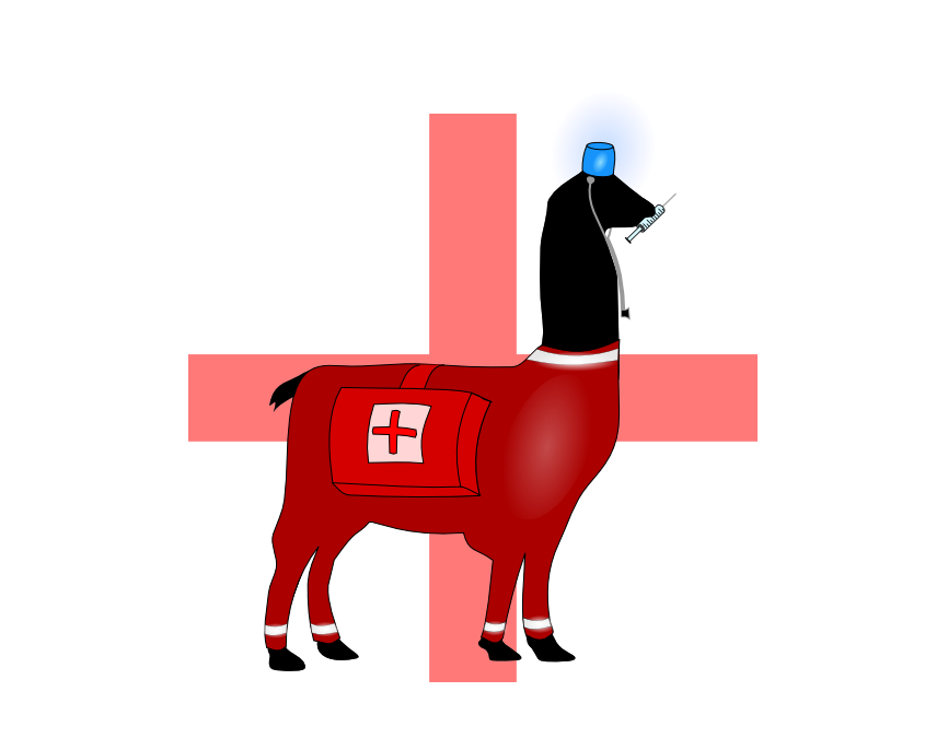 Llama impression #22: Paramedic