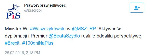 Tweet PiS - treść pod spodem