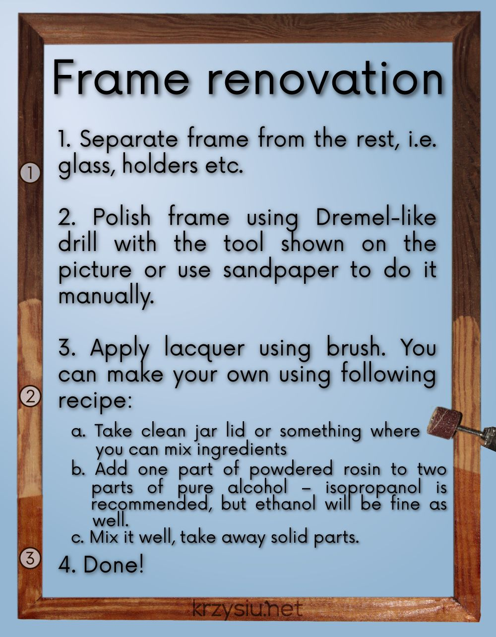 Frame renovation; text available below